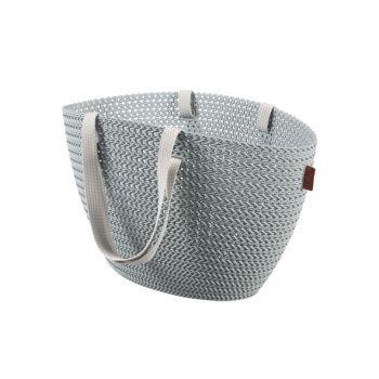 Curver Knit Panier Provisions Emily Bleu Gris