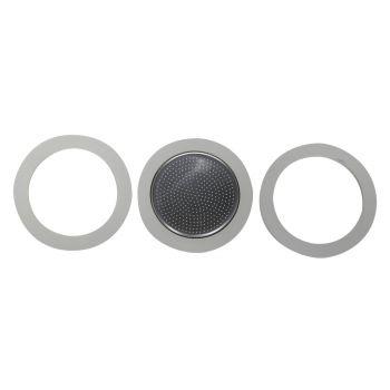 Bialetti Blister 3 Gasket - 1 Filter 4t