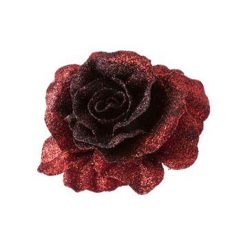 Cosy @ Home Rose Sur Clip Scintil.rouge Noir D10cm
