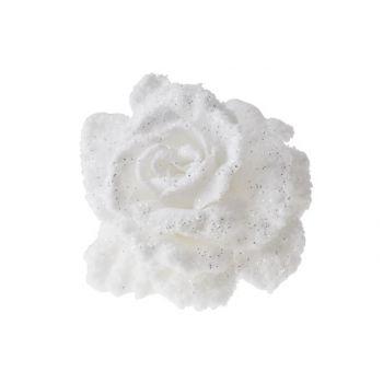 Cosy @ Home Rose Sur Clip Blanche Enneige D10cm