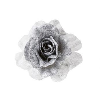 Cosy @ Home Rose Sur Clip Scintil.blanc Argent D10cm