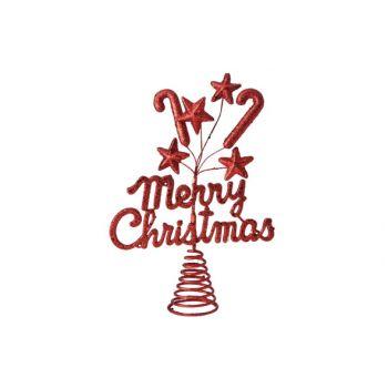 Cosy @ Home Pique De Sapin Merrychristmas Bril Rouge