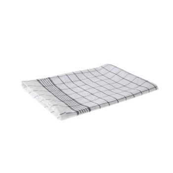Cosy & Trendy For Professionals Keukenhanddoek Set6 Carreau Gris-blanc