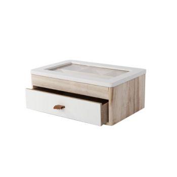 Cosy @ Home Boite A Bijoux Blanc Bois 24x16xh10cm