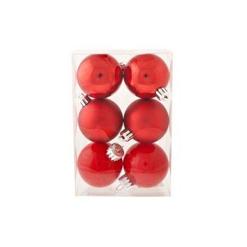 Cosy @ Home Boule D.noel Mix Set6 Rouge D6cm Incass.