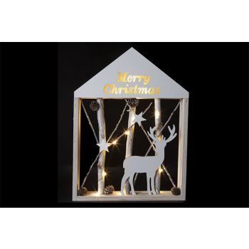 Cosy @ Home Cadre Branches M.christmas Led 30x41cm
