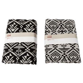 Cosy @ Home Inca Etoffe Deco Noir Gris 2 Types 1.5x2m