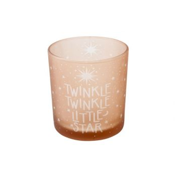 Cosy @ Home Bougeoir Twinkle Twinkle Pink D7x8cm
