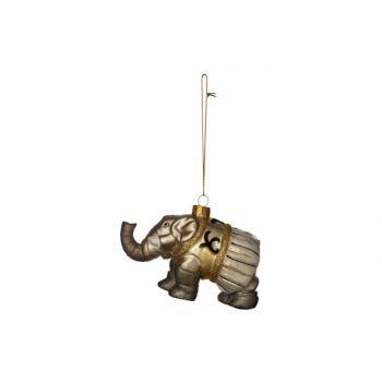 Cosy @ Home Elephant Cirque Susp. Verre 11x5x7cm