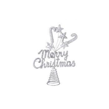 Cosy @ Home Pique De Sapin Merrychristmas Bril Argen