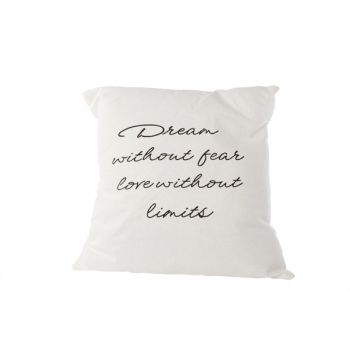 Cosy @ Home Coussin Dream Without Fear Blanc 45x45cm