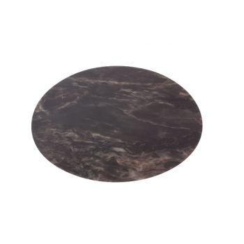Cosy & Trendy Set De Table Look Marbre Noir Rond 38cm