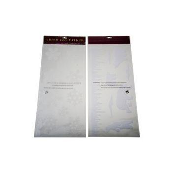 Goodmark Flocked Deco Collant 2 Types Blanc 23x49cm