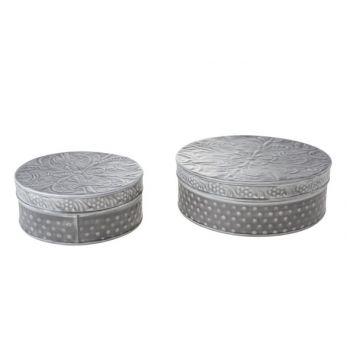 Cosy & Trendy Boite Set2 D21x8cm D16.5x7cm Metal