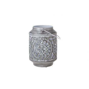 Cosy & Trendy Lanterne 18x18x24cm Metal Gris Laque