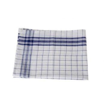 Cosy & Trendy For Professionals Keukenhanddoek S6 Carreau Bleu-blanc