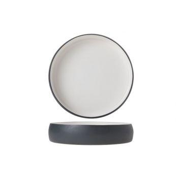 Cosy & Trendy Assiette Alu 22xh4cm Blanc Email Gris