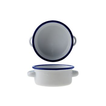 Cosy & Trendy Bol Rond D11xh4.5cm Blanc Fer Emaille