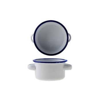 Cosy & Trendy Bol Rond D8xh4.5cm Blanc Fer Emaille
