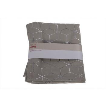 Cosy @ Home Chemin De Table Geometric Silver Gris