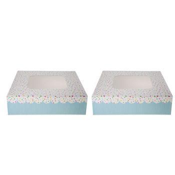 Cosy & Trendy Boite Gateaux Set2 Carre 16x16cm Dots