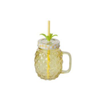 Cosy & Trendy Ananas Bocale Jaune 12x9xh21cm