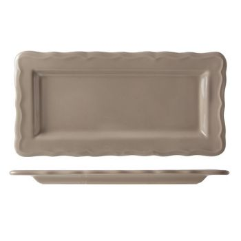 Cosy & Trendy Juliet Taupe Plat A Cake Brillant 30x15