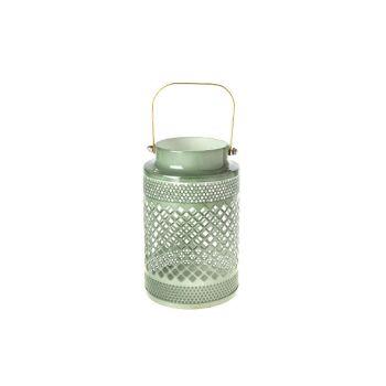Cosy @ Home Lanterne Vert Rond Metal 10,5x10,5xh16,5