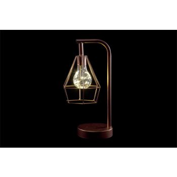Cosy @ Home Lampe Cuivre Metal 15,5x12,5xh30,5 Geome