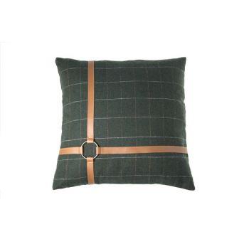 Cosy @ Home Coussin Vert CarrÉ Textile 45x45xh0 Chec