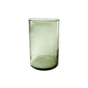 Cosy @ Home Lanterne Vert Cylindrique Verre 18x18xh2