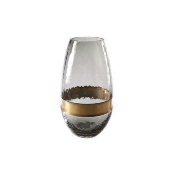 Cosy @ Home Vase Gris Ovale Verre 15x15xh28