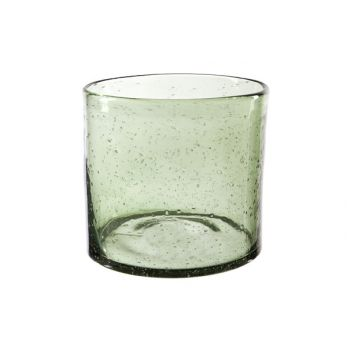 Cosy @ Home Lanterne Vert Cylindrique Verre 14,8x14,