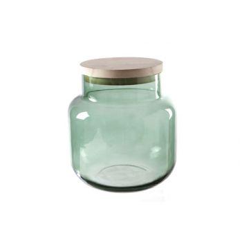 Cosy @ Home Lanterne Vert Cylindrique Verre 18x18xh1