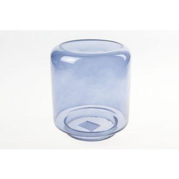 Cosy @ Home Lanterne Bleu Cylindrique Verre 15x15xh2