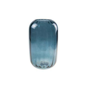 Cosy @ Home Vase Bleu Petrol Rond Verre 15x15xh25 Op