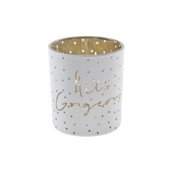 Cosy @ Home Bougeoir Blanc Rond Verre 7x7xh8