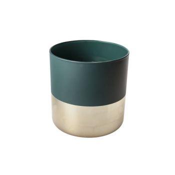 Cosy @ Home Lanterne Vert Rond Verre 15x15xh15