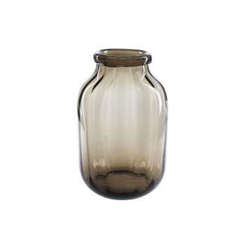 Cosy @ Home Vase Brun Rond Verre 20,5x20,5xh32 Optic