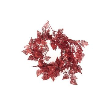 Cosy @ Home Guirlande Feuilles Rouge Synthetique