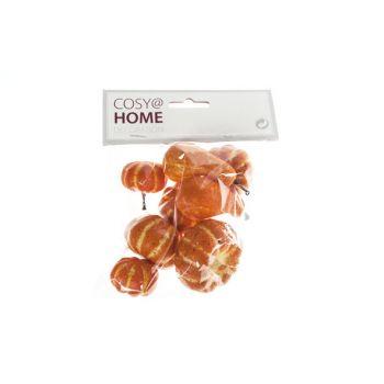 Cosy @ Home Citrouille Set8 Orange Synthetique 3,3x3