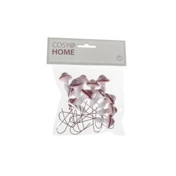 Cosy @ Home Pic Champignon Set12 Rouge Blanc Synthet