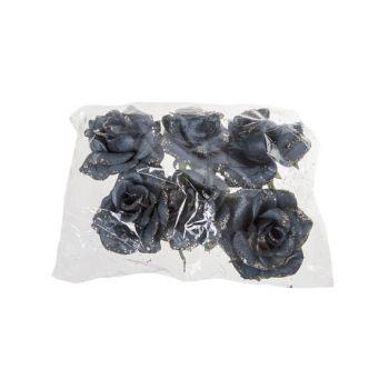 Cosy @ Home Rose Clip Set6 Bleu Jeans Synthetique 7x