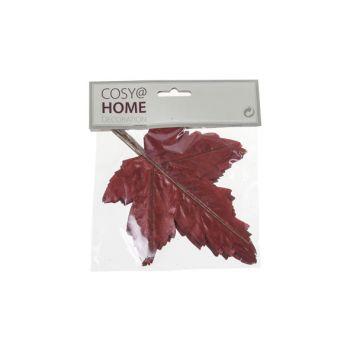 Cosy @ Home Feuilles Automne Set12 Bordeaux Syntheti