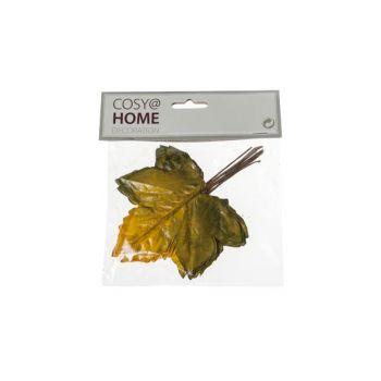 Cosy @ Home Feuilles Automne Set12 Jaune Synthetique