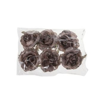 Cosy @ Home Rose Clip Set6 Rose Synthetique 7x7xh5 G