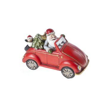 Cosy @ Home Voiture Rouge Ceramique 15,5x8xh10 Santa