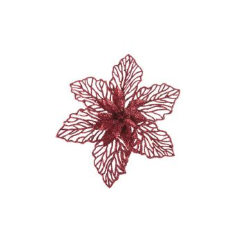 Cosy @ Home Poinsettia Clip Rouge Synthetique 0x17,7