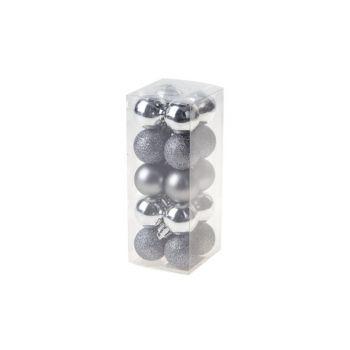 Cosy @ Home Boule Noel Set20 Mix Argent D3cm