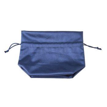 Cosy @ Home Petit Sac Bleu Textile 14x8xh17cm